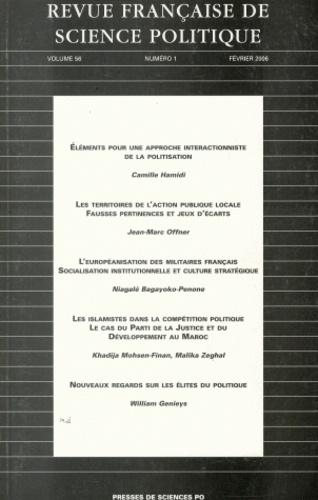 Camille Hamidi et Jean-Marc Offner - Revue française de science politique Volume 56 N° 1, Févr : .