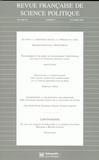 Blandine Destremau et Michel Messu - Revue française de science politique Volume 58 N° 5, Octo : .