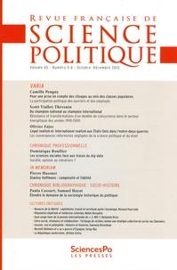 Yves Déloye - Revue française de science politique Volume 65 N° 5-6, Oc : Varia.
