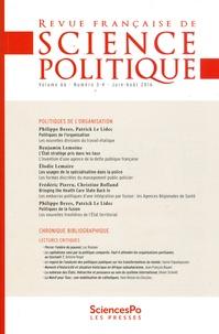 Yves Déloye - Revue française de science politique Volume 66 N° 3-4, ju : Politiques de l'organisation.