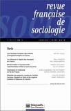 Olivier Galland et Pierre-Michel Menger - Revue française de sociologie N° 54-1, Janvier-mar : Varia.