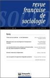Olivier Galland et Pierre-Michel Menger - Revue française de sociologie N° 54-2, avril/juin : .