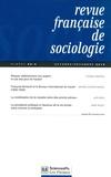 Thomas Amadieu et Marine Dhermy-Mairal - Revue française de sociologie N° 56-4, Octobre-déc : .