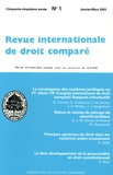 Etienne Picard - Revue internationale de droit comparé, année 2003, N° 1 à 4.