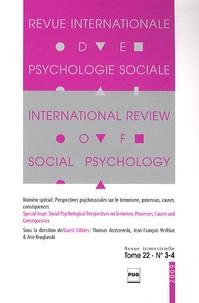 Thomas Arciszewski et Jean-François Verlhiac - Revue Internationale de Psychologie Sociale N° 22-3-4, 2009 : .