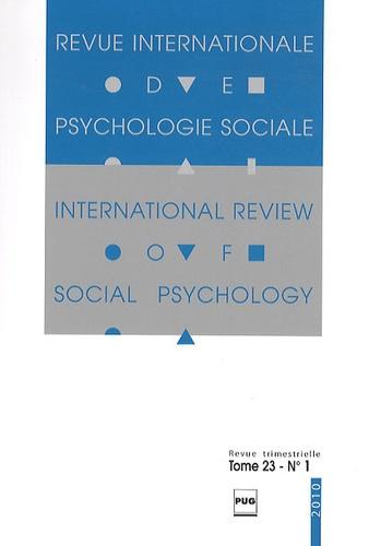 Gabriel Mugny - Revue Internationale de Psychologie Sociale N° 23-1, 2010 : .