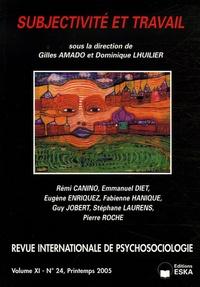 Gilles Amado et Dominique Lhuilier - Revue internationale de psychosociologie N° 24, Printemps 200 : Subjectivité et travail.
