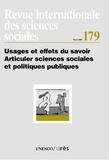 John Crowley - Revue internationale des sciences sociales N°179 : Usages et effets du savoir. Articuler sciences sociales et politiques publiques.