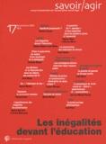 Romuald Bodin et Louis Weber - Savoir/Agir N° 17, Septembre 201 : Les inégalités devant l'éducation.