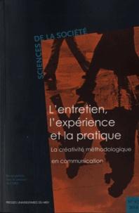 Joëlle Le Marec et Pierre Molinier - Sciences de la Société N° 92/2014 : L'entretien, l'expérience et la pratique - La créativité méthodologique en communication.