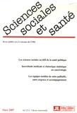 Raymond Massé et Pierre Czernichow - Sciences Sociales et Santé Volume 25 N° 1, Mars : .