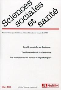 Doris Bonnet - Sciences Sociales et Santé Volume 28 N° 1, Mars : .
