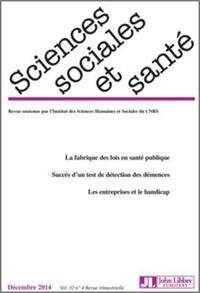 Sciences Sociales et Santé Volume 32 N° 4, Déce.pdf