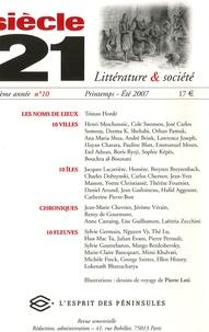Tristan Hordé et Henri Meschonnic - Siècle 21 N° 10, Printemps-Eté : .