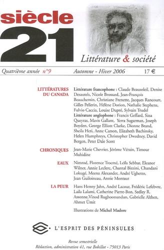 Marilyn Hacker et Marie-Claudette Kirpalani - Siècle 21 N° 9, Automne-Hiver : Littératures du Canada - Langue française et langue anglaise.
