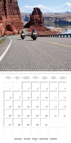 Sillonner les États-Unis en Harley-Davidson (Calendrier mural 2020 300 × 300 mm Square). Les magnifiques paysages du Sud-Ouest américain vus de la selle d'une Harley (Calendrier mensuel, 14 Pages )