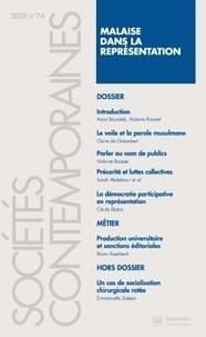 Assia Boutaleb - Sociétés contemporaines N° 74, 2009 : Malaise dans la représentation.
