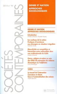 Amélie Le Renard et Elisabeth Marteu - Sociétés contemporaines N° 94/2014 : Genre et nation, approches sociologiques.
