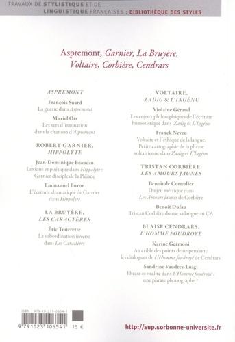 Styles, genres, auteurs N° 19 Aspremont, Garnier, La Bruyère, Voltaire, Corbière, Cendrars