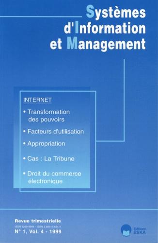 Emmanuel Monod - Systèmes d'Information et Management Volume 4 N° 1/1999 : Internet.