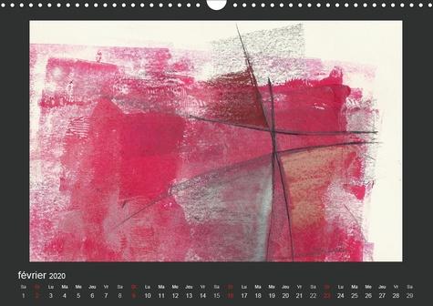 Tachisme - Dieter Borst (Calendrier mural 2020 DIN A3 horizontal). Art informel (Calendrier mensuel, 14 Pages )