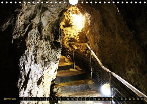 Temple naturel ambré (Calendrier mural 2020 DIN A4 horizontal). Photographies d'une cavité souterraine (Calendrier mensuel, 14 Pages )