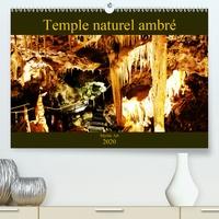 Carine Dito - Temple naturel ambré (Calendrier supérieur 2020 DIN A2 horizontal) - Photographies d'une cavité souterraine (Calendrier mensuel, 14 Pages ).