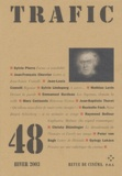 Sylvie Pierre et Jean-François Chevrier - Trafic N° 48 Hiver 2003 : .