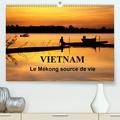 Michel Denis - Vietnam Le Mékong source de vie (Calendrier supérieur 2020 DIN A2 horizontal) - Le Vietnam est traversé par le fleuve Mékong. Sur l'eau, sur les berges, la vie fourmille de toutes parts... (Calendrier mensuel, 14 Pages ).