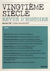 Raphaëlle Branche - Vingtième siècle N° 136, octobre-déce : Varia.
