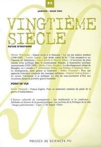 Sciences Po - Vingtième siècle N° 85, janvier 2005 : .