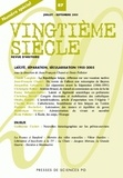 Jean-François Chanet et Denis Pelletier - Vingtième siècle N° 87, Juillet-Septe : Laïcité, séparation, sécularisation 1905-2005.