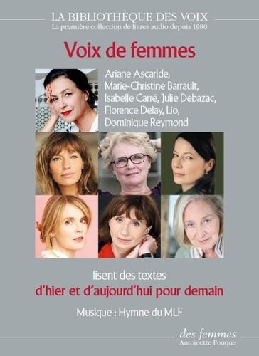 Voix de femmes d'hier et d'aujourd'hui pour demain  avec 1 CD audio MP3