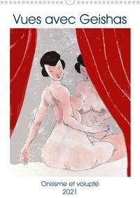 Frédéric Rekaï - CALVENDO Art  : Vues avec Geishas (Calendrier mural 2021 DIN A3 vertical) - Un monde de Geishas imaginaire et sensuel (Calendrier mensuel, 14 Pages ).