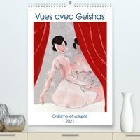 Frédéric Rekaï - CALVENDO Art  : Vues avec Geishas (Premium, hochwertiger DIN A2 Wandkalender 2021, Kunstdruck in Hochglanz) - Un monde de Geishas imaginaire et sensuel (Calendrier mensuel, 14 Pages ).