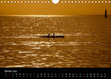 VUES SUR MER (Calendrier mural 2020 DIN A4 horizontal). Lumière et couleurs de la mer et de ses côtes (Calendrier mensuel, 14 Pages )