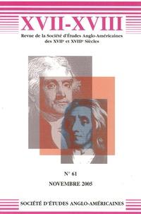 Jonathan Bate et Pascale Drouet - XVII-XVIII N° 61, Novembre 2005 : .
