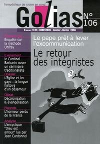 Jean Molard - Golias Magazine N° 106, Janvier-Févr : Le retour des intégristes.