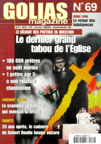 Golias - Golias Magazine N° 69, Novembre-Déce : Le dernier grand tabou de l'Eglise.