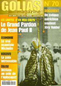 Golias - Golias Magazine N° 70, Janvier-Févri : Le grand pardon de Jean-Paul II.