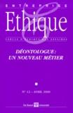 De Boeck - Entreprise & Ethique n° 12 Avril 2000 : Déontologue, un nouveau métier.