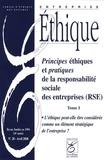 Françoise de Bry - Entreprise éthique N° 28, Avril 2008 : Principes éthiques et pratiques de la responsabilité sociale des entreprises (RSE) - Tome 1.