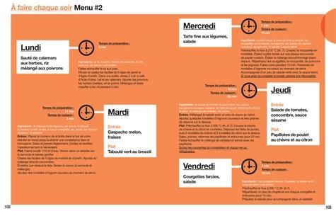 En 2h je cuisine light pour toute la semaine. Nouveaux menus. 80 menus faits maison, sans gâchis et avec des produits de saison