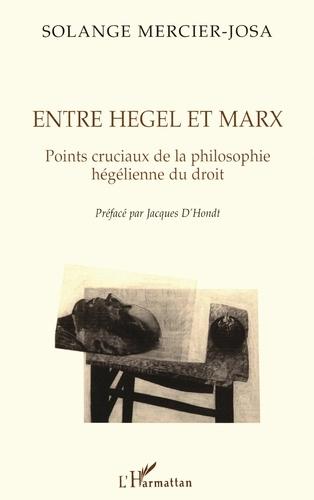 Solange Mercier-Josa - ENTRE HEGEL ET MARX. - Points cruciaux de la philosophie hégélienne du droit.