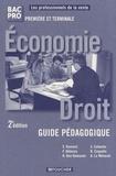 Solange Ramond - Economie Droit 1re et Tle Bac pro commerce - Guide pédagogique.