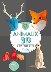 Télécharger des livres audio pour allumer Animaux 3D  - 6 trophées déco. Kit paperkraft par Solar