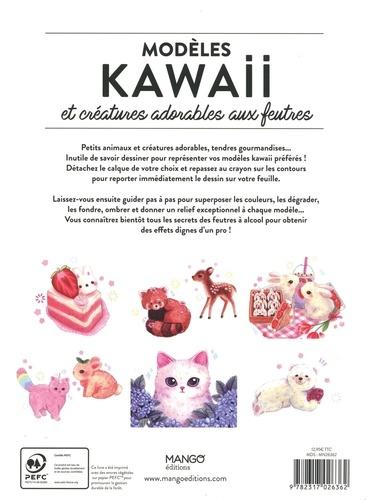 Modèles kawaii et créatures adorables aux feutres. Avec des calques à taille réelle