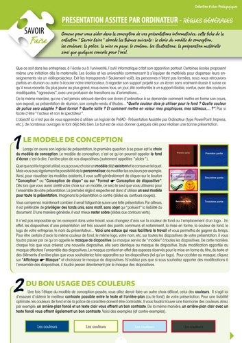Solenna Martin - Présentation assistée par ordinateur - Règles générales.