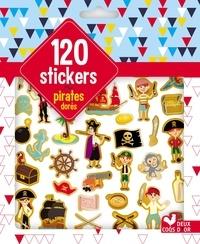 Solenne et  Thomas - 120 stickers pirates dorés.