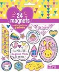 Solenne et  Thomas - 24 magnets à colorier et à offrir à sa grand-mère.